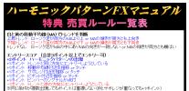 ハーモニックパターンFXマニュアル・特典2 売買ルール一覧表.PNG